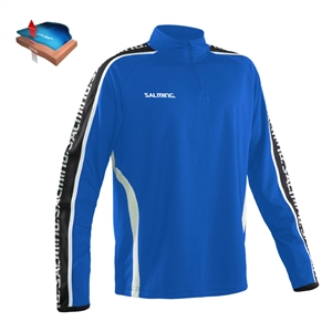 Salming Hector Half Zip -Junior - Royal Blue - Unisex - (str. 130-160)